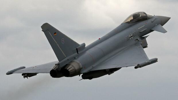 Ein Eurofighter beim Start. Quelle: dpa