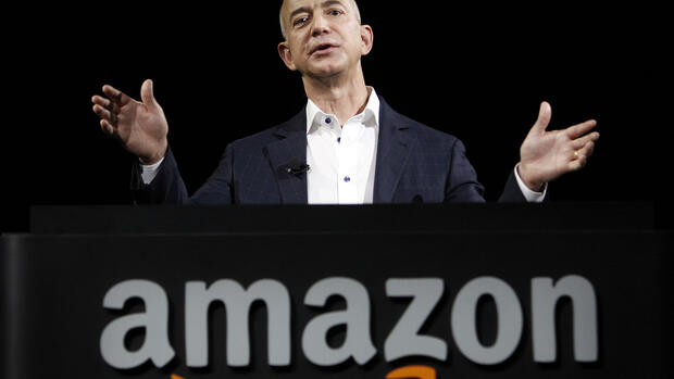Der Amazon-Chef Jeff Bezos kauft die Washington Post. Quelle: AP
