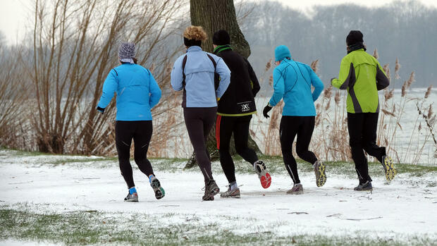 Joggen im WInter Quelle: dpa