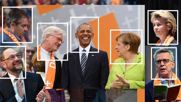 Auftritt beim Evangelischen Kirchentag Zehntausende jubeln Obama und Merkel zu