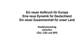 Download: Der Koalitionsvertrag im Volltext