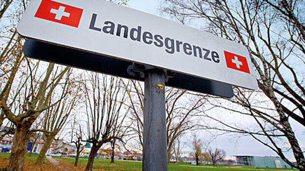 Landesgrenze zur Schweiz Quelle: Getty Images
