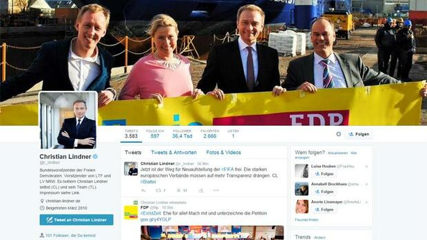 Christian Lindner Quelle: Screenshot