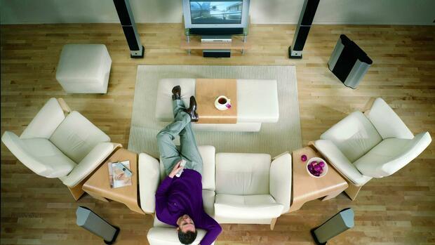 soundsysteme: wie der kino-sound ins wohnzimmer kommt, Wohnzimmer