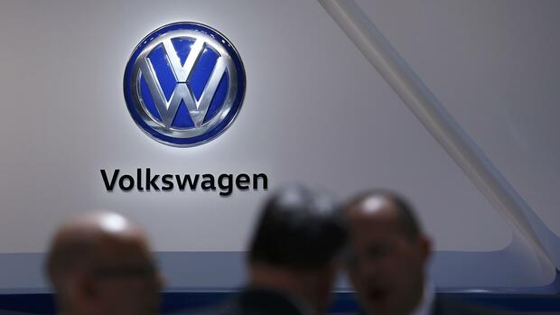 Das VW-Logo in Genf. Quelle: REUTERS