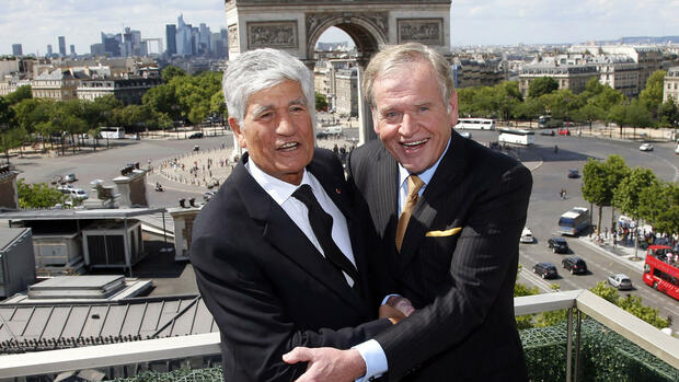 Maurice Levy (links) und John Wren Quelle: AP