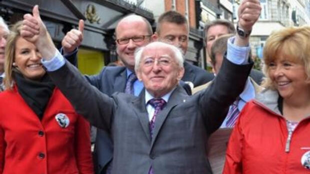 Michael D. Higgins Quelle: dpa