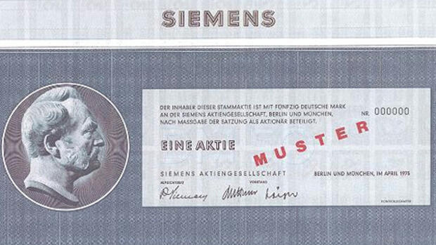 Aktien Siemens