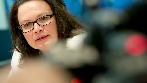 Arbeitsministerin Andrea Nahles Quelle: dpa