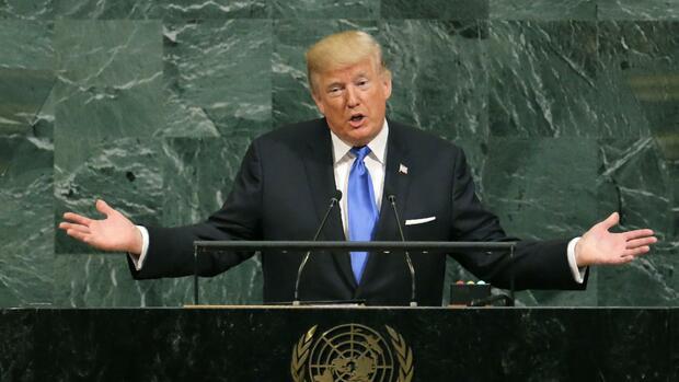 """Trump bei der Uno: """"America first"""" - der Rest der Welt folgt dahinter"""