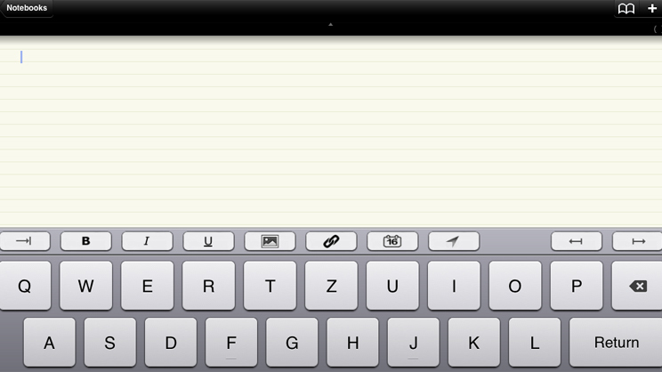 Screenshot der App Notebooks Quelle: Screenshot