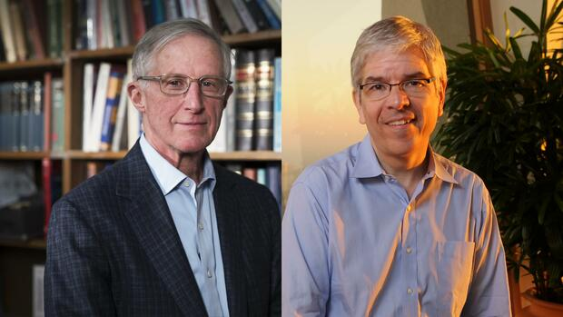 William D. Nordhaus (links) und Paul M. Romer Quelle: Presse