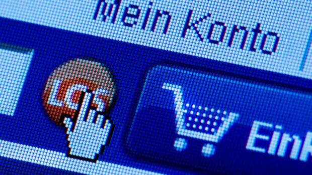 Screenshot der Website eines Online-Shops Quelle: dpa
