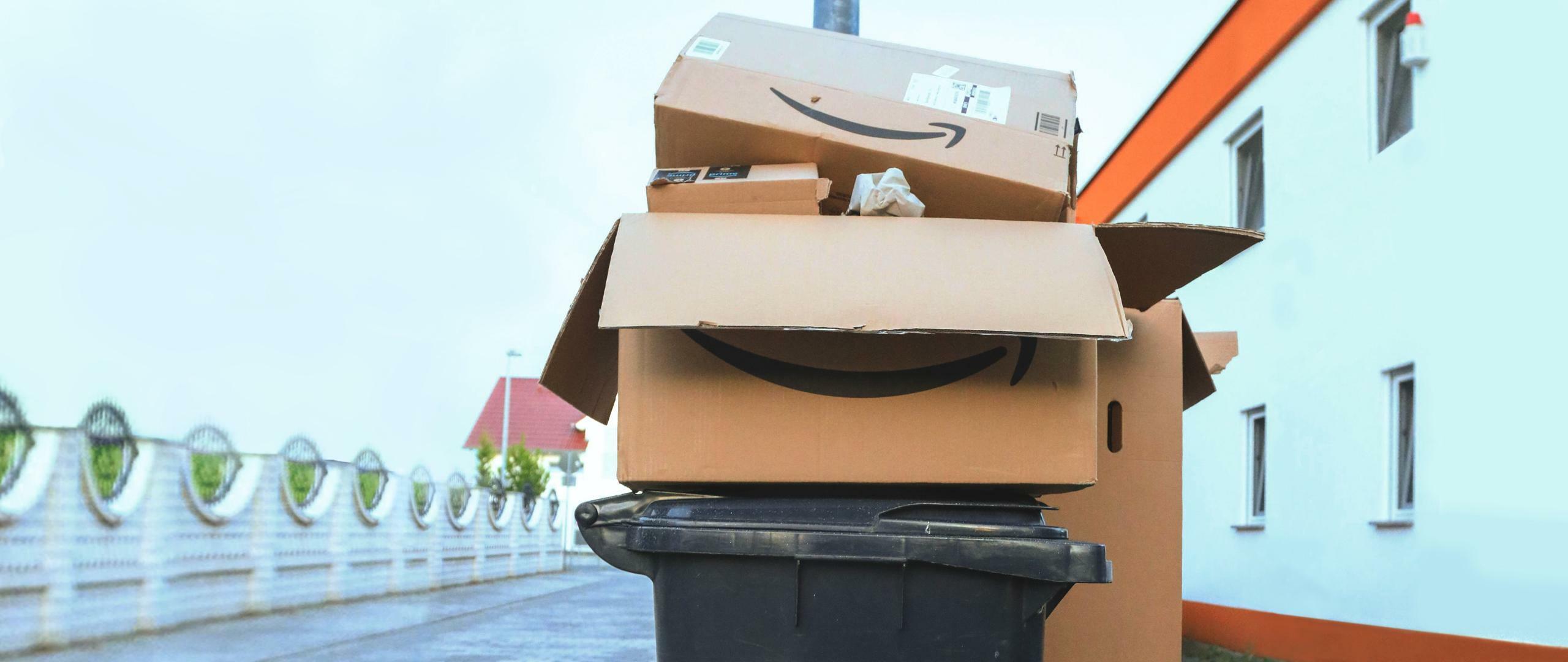 Altpapier: Die Mülltonne spürt den Amazon-Effekt