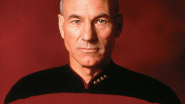 Parick Stewart als Captain Jean Luc Picard in Star Trek The Next Generation Quelle: dpa