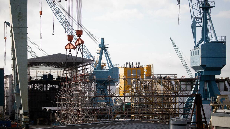 Schiffindustrie: Hamburger Werft Pella Sietas kündigt Insolvenzantrag an