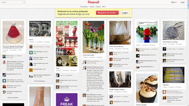 Pinterest Quelle: Screenshot