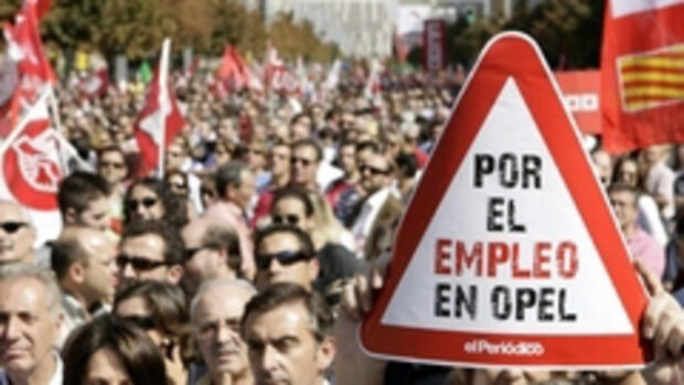 "Poroteste in Spanien: ""Por el Quelle: REUTERS"