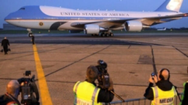 Air Force One sits on the Quelle: dpa