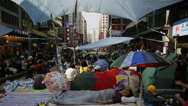 Demonstranten in Hongkong Quelle: REUTERS