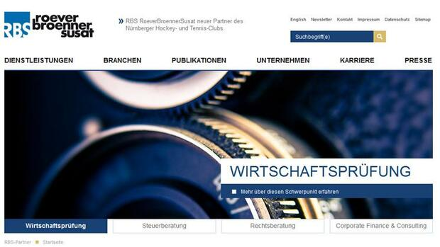 Screenshot www.rbs-partner.de Quelle: Screenshot