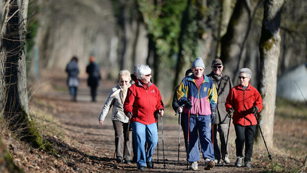 Senioren beim Nordic-Walking Quelle: dpa