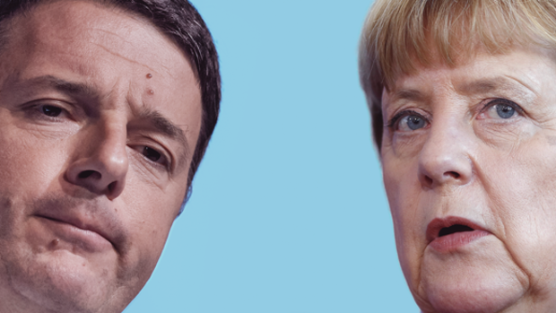 Matteo Renzi und Angela Merkel Quelle: Getty Images