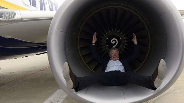 Ryanair-Chef Michael O'Leary . Quelle: imago images