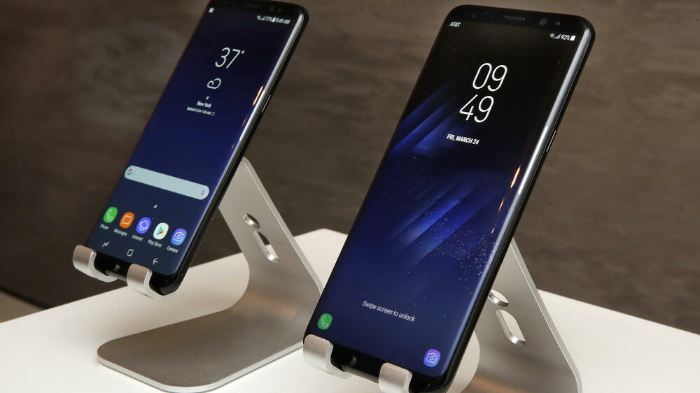 Display des Samsung Galaxy S8 Quelle: AP