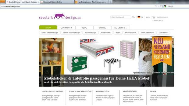 Internetseite von Saustark Design Quelle: Screenshot