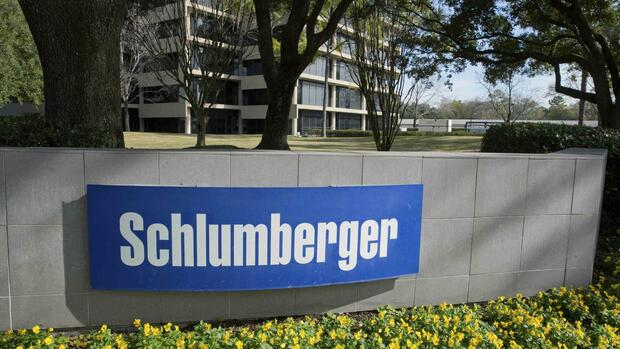Das Logo des Öldienstleister Schlumberger in West Houston. Quelle: Reuters