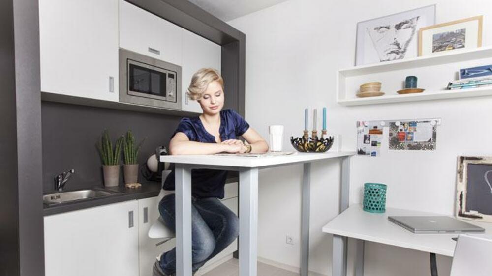 appartement statt wohnheim so sehen die luxus. Black Bedroom Furniture Sets. Home Design Ideas