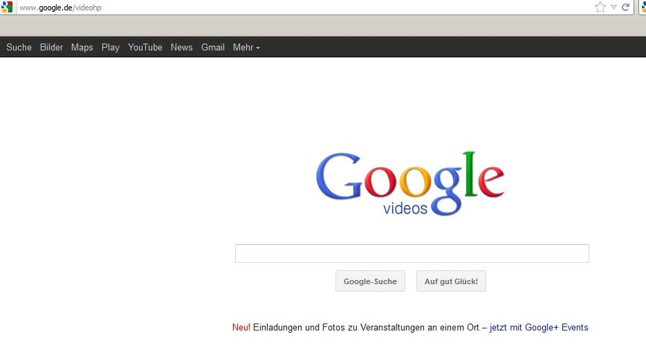 Google Videos Quelle: Screenshot