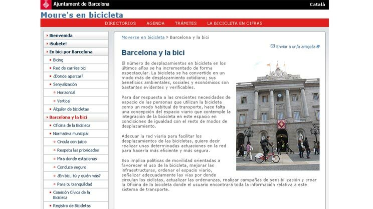 Screenshot der Homepage Ajuntament de Barcelona Quelle: Screenshot