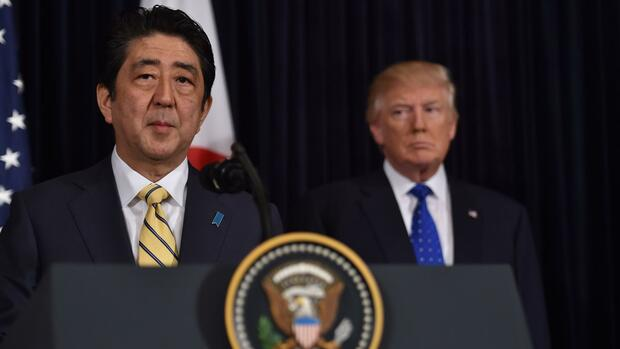 Japans Ministerpräsident war am vergangenen Wochenende in Washington. Quelle: AFP