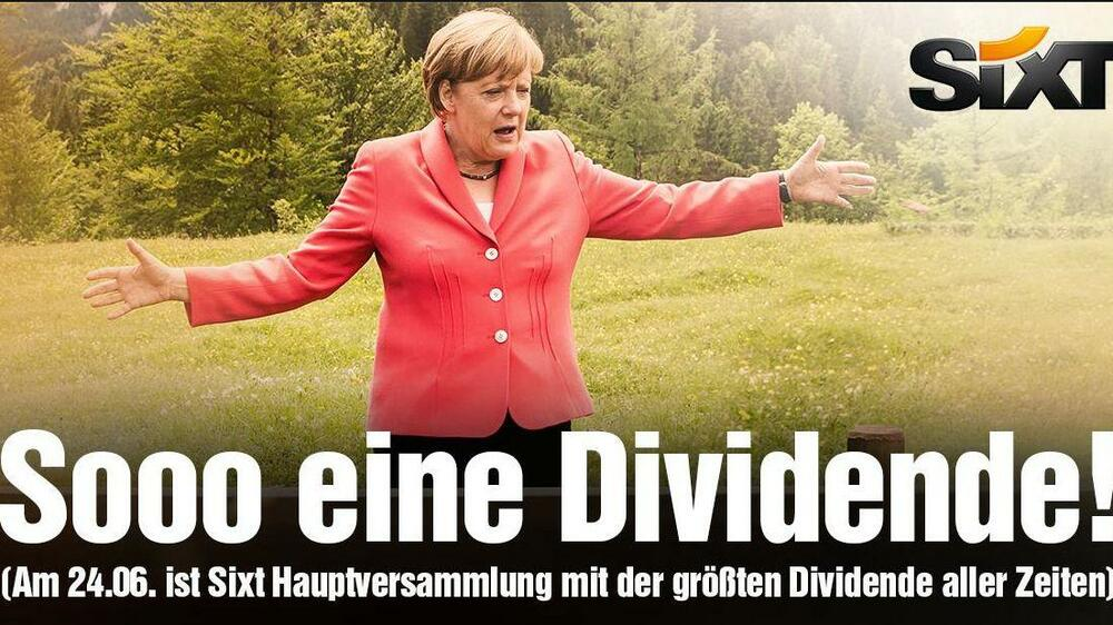 Sixt Merkel Quelle: Screenshot
