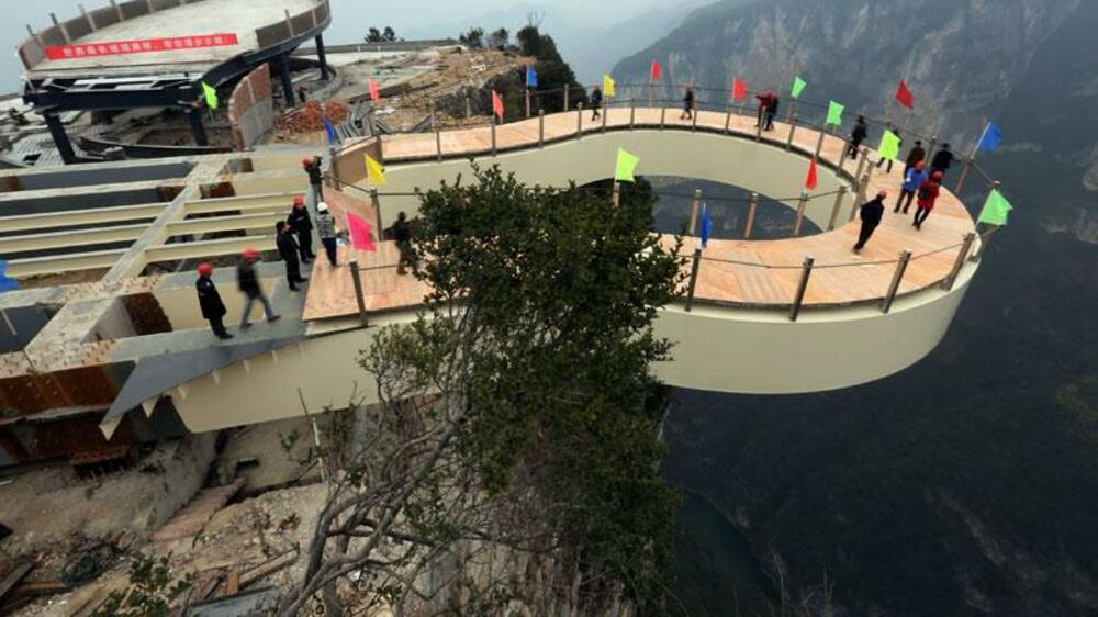 Skywalk in China Quelle: dpa Picture-Alliance