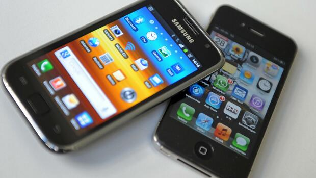 Samsung Apple Smartphone Quelle: dpa