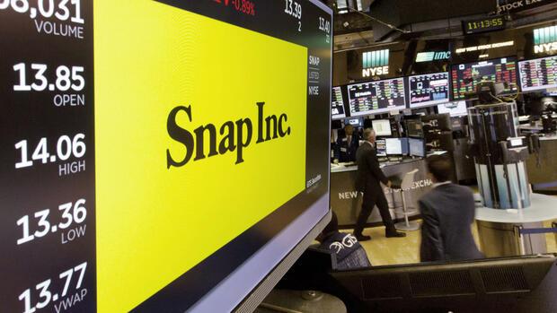 Die Snap Aktie ist auf Talfahrt. Quelle AP