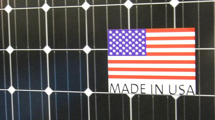 Solarpanel Made In USA Quelle: Presse