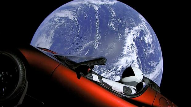 SpaceX Tesla Roadster Quelle: dpa