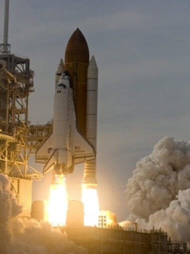 Start des Spaceshuttles Quelle: dpa