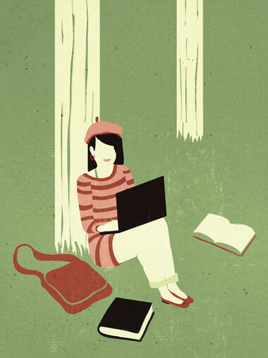 Studentin Quelle: Illustration: Emiliano Ponzi