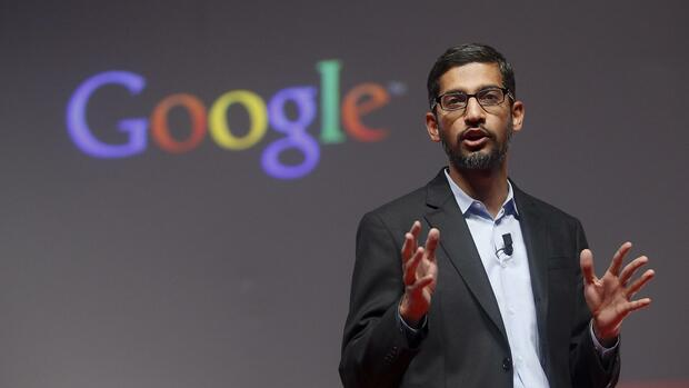 Sundar Pichai in Barcelona. Quelle: REUTERS