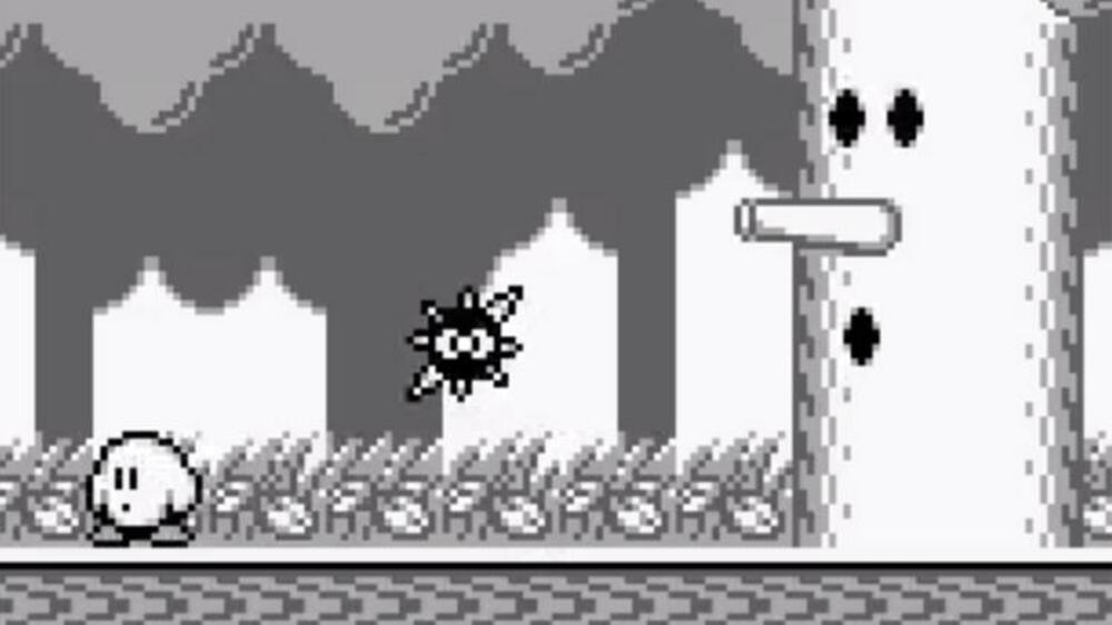 Szene aus Kirby's Dream Land Quelle: Screenshot