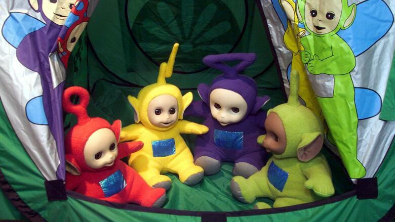 "The first talking ""Teletubbies"" are seen at the world biggest toy fair in Nuremberg, February 2. Quelle: REUTERS"