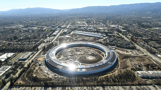 """Raumschiff"": Der Apple-Campus in Cupertino. Quelle: REUTERS"