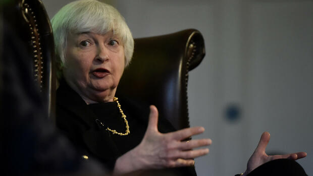 Fed-Chefin Janet Yellen in London. Quelle: REUTERS