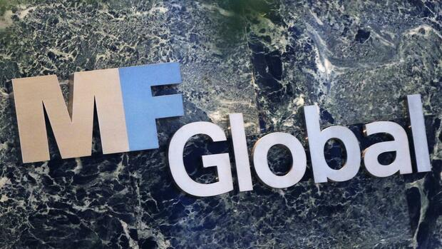 Das Logo von MF-Global. Quelle: Reuters
