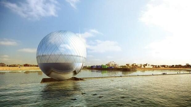 """The Clear Orb"" von Jaesik Lim, Ahyoung Lee, Jaeyeol Kim und Taegu Lim. (A submission to the 2016 Land Art Generator Initiative design competition for Santa Monica)"